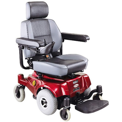 CTM HS 2800 Front Wheel Drive Electric Power Chair Red