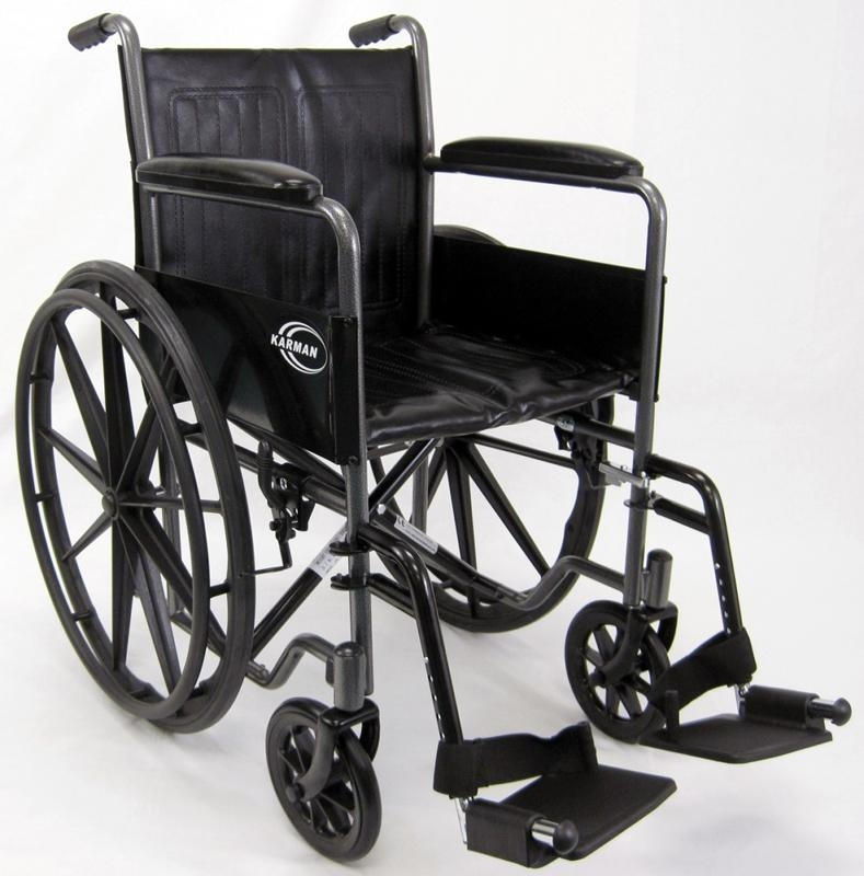 Kn 800t Standard Fixed Arm Wheelchair 18 Quot W Removable