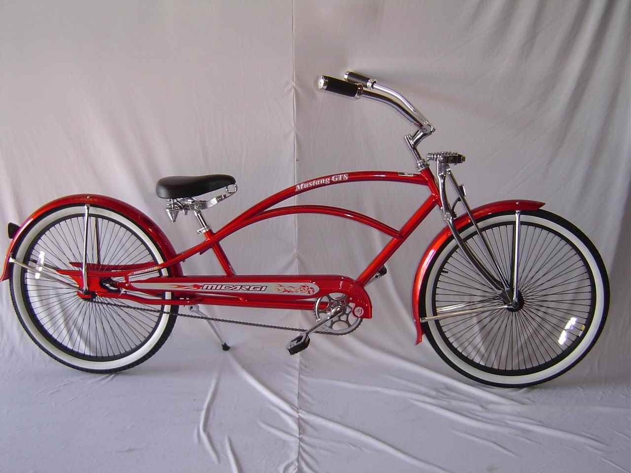 26quot Stretch Beach Cruiser Bike Bicycle 68 Spokes Red  EBay