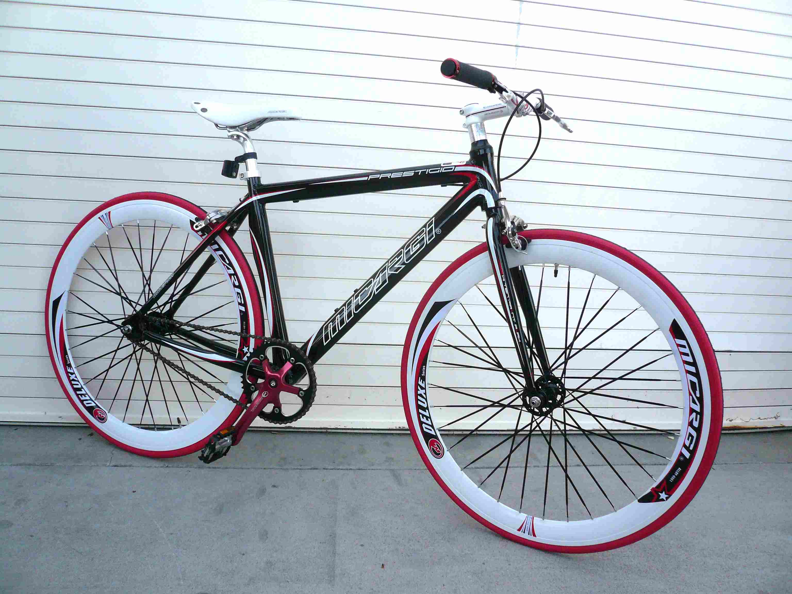 Road Bike Fixed Gear Track Bicycle Alloy Micargi Prestigio