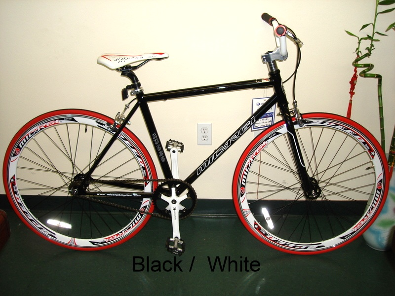 Fixie fixed gear bicycle bike 53cm rd 626 black for Motor cycle without gear