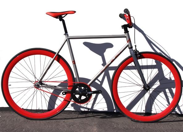 Fixed Gear Bike Fixie Bike Road Bicycle w BMX Handlbar Sz 48 52 56 cm