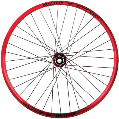 Azonic Outlaw 26 Mountain Bike Wheel Sets Rim Anodized Red