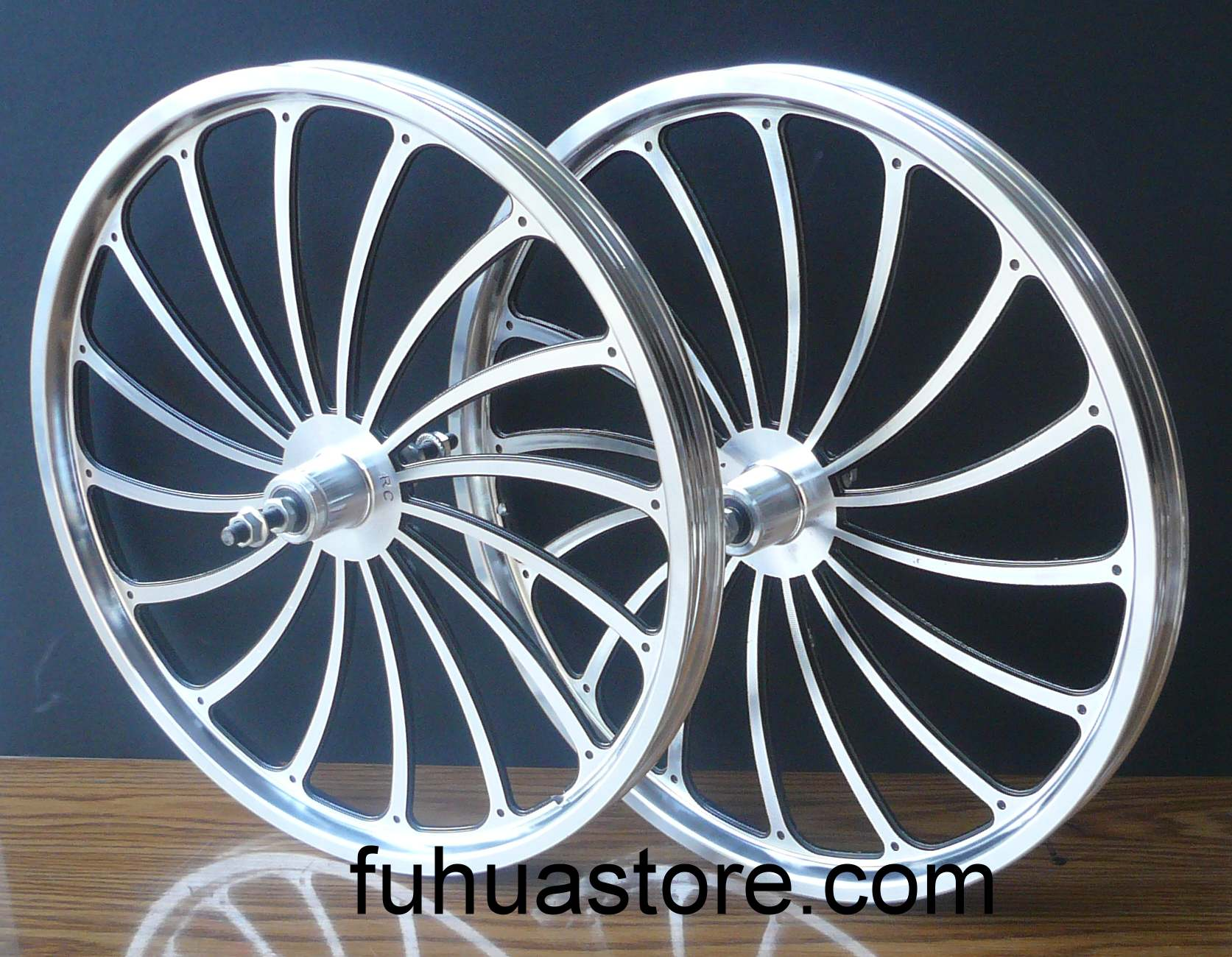 Bmx bike bicycle 20 rear front wheels rims set for Bicycle rims