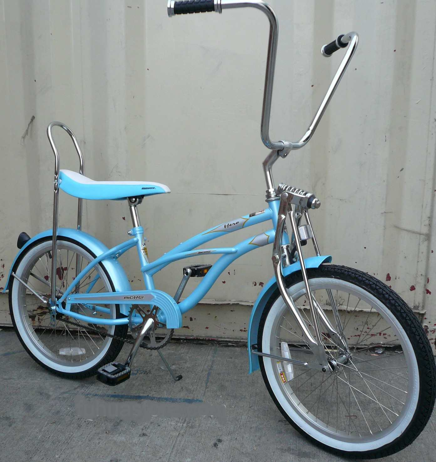 New 20quot Lowrider Beach Cruiser Bicycle Bike Low Rider Baby Blue  EBay